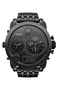 New-Diesel-DZ7254-Big-Daddy-Ceramic-All-Black-Oversized-Men-039-s-Watch-Retail-595