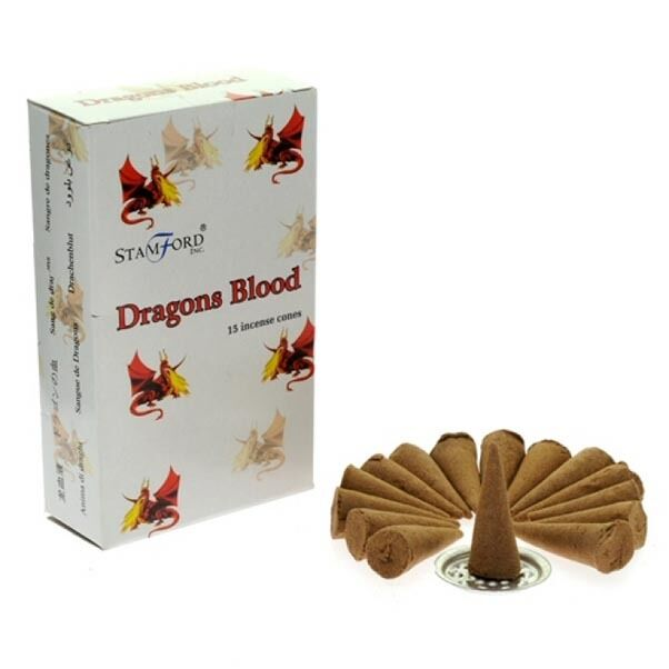 BOXED Stamford Dragons Blood Boxed Gothic Magic 15 x Incense Cones