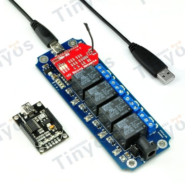 4 Channel USB/Wireless 5V Relay Module WIFI Remote Control Kit