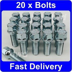 20-x-ALLOY-WHEEL-BOLTS-FOR-VW-TRANSPORTER-T4-T5-M14x1-5-17MM-HEX-LUG-NUTS-W7