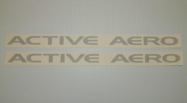 New Mitsubishi ACTIVE AERO Logo Decal Pair VR-4 3000GT 3KGT AWD TT Chin Spoiler