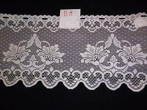 gardine scheibengardine fenstergardine motiv blumen h 33 cm je 1 m neu b8 ebay. Black Bedroom Furniture Sets. Home Design Ideas