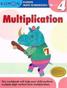 Grade 4 Multiplication : Kumon Math Workbooks: With Answer ...