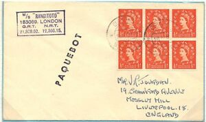 U.K. G.B. CURACAO NEW ZEALAND SHIPPING CO. 1962 18 APRIL 1962, GB 3d POSTAGE TO