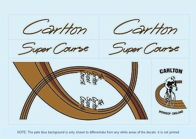 Carlton Bicycle Decals-Transfers-Stickers #3