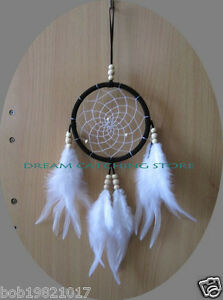 wholesale-hottest-dream-catcher-DIA-4inch-black-color-with-white-feathers