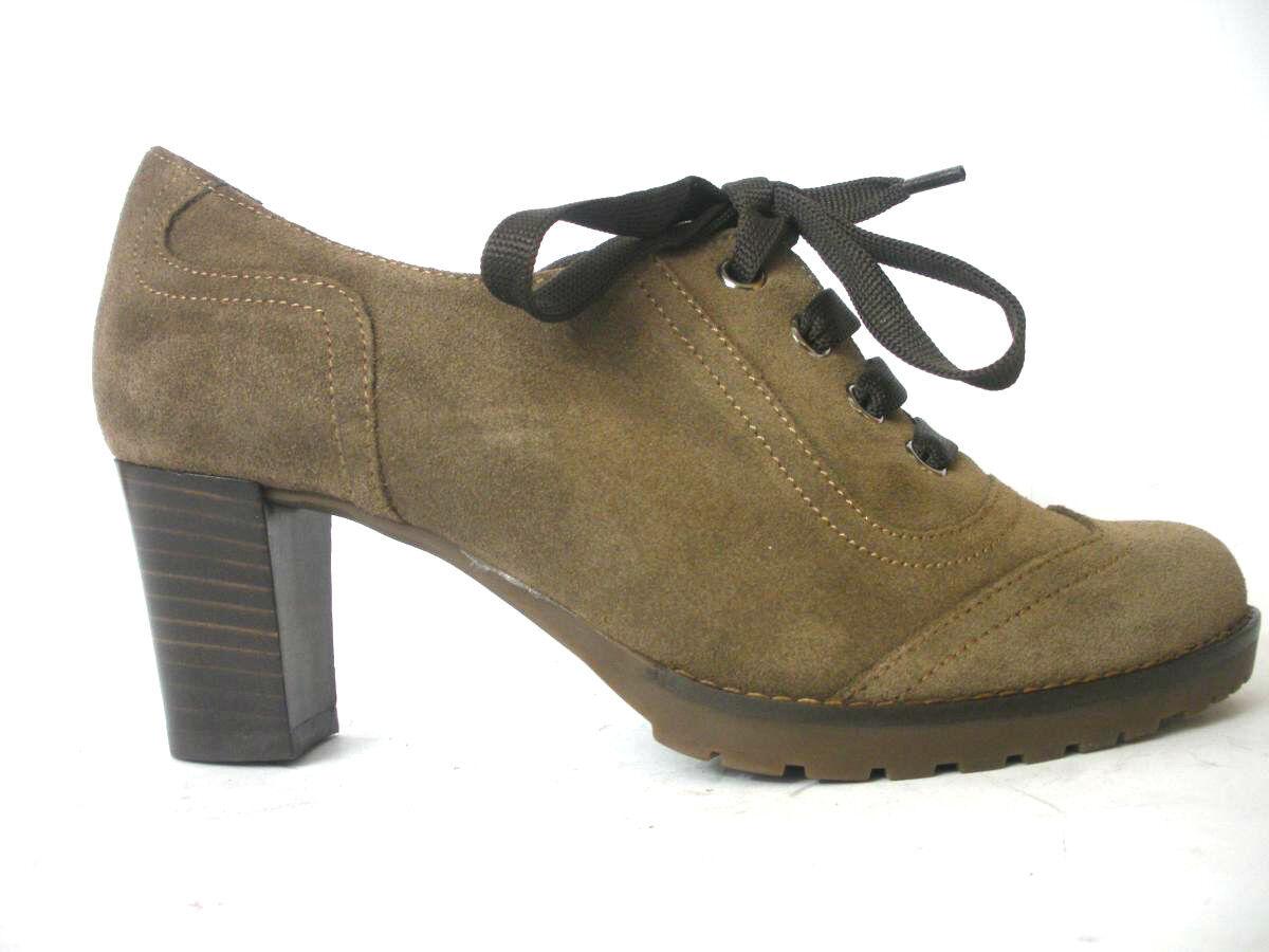 schuhe MELLUSO Damens L5005 IN PELLE SCAMOSCIATA WOOD MADE IN ITALY Schuhe
