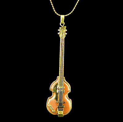 Legendary left-handed Bass Miniature Scaled Replica Jewelry Pendant Necklace