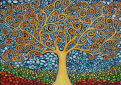 Abstract Tree Home Decor Canvas Print A4 Size (210 x 297mm)