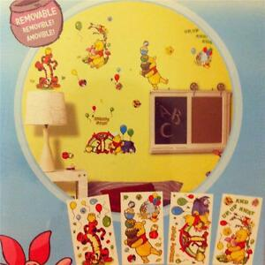 NEW-DISNEY-WINNIE-THE-POOH-Self-Stick-Room-Appliques-76-REMOVABLE-STICKERS