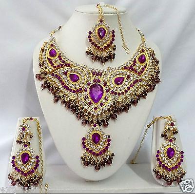 T9001 Indian Bollywood Fashion Costume Jewelry Kundan Jewellery Necklace Set