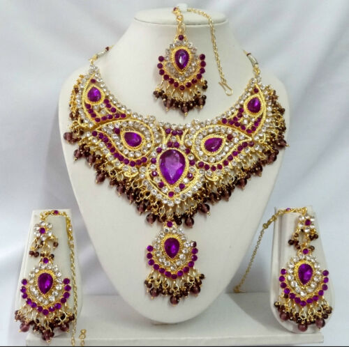 T9001 Indian Bollywood Fashion Costume Jewelry Kundan Jewellery Necklace Set