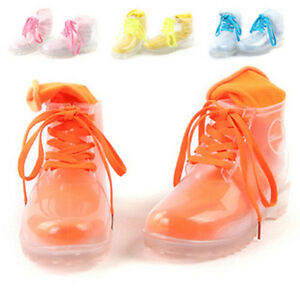 Womens Shoes Clear Rain Boots Ankle Martin Boots Rubber 11 Colors ...