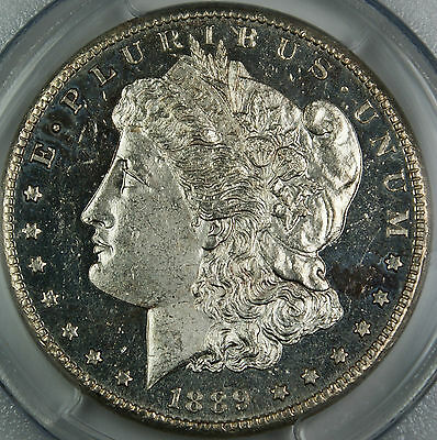 1889-CC PCGS MS-62 DMPL $1 Morgan Silver Dollar, Key Carson City Coin, Better++