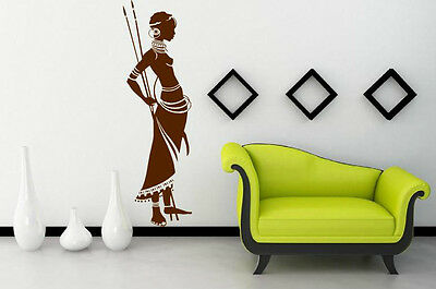 African Warrior - Exotic Vinyl Wall Stickers Decor. High Quality 30cm x 100cm