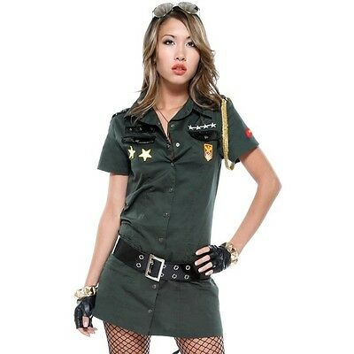 FORPLAY SEXY ARMY SEDUCTRESS COSTUME 595018 ORIGINAL CUT