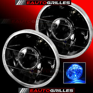 Universal-7-034-Round-Black-Replacement-PROJECTOR-Clear-Sealed-Beam-Headlights
