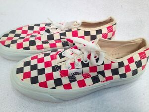 Vintage-80-039-s-VANS-made-in-USA-Checkered-Authentic-Near-Mint-5-5-mens-7-womens