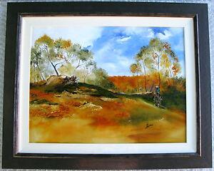 Allan-Goddard-039-s-Australian-original-oil-featuring-039-Brumbies-in-the-bush-039