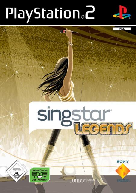 Singstar Legends mit Anleitung (PS2) - DVD wie Neu