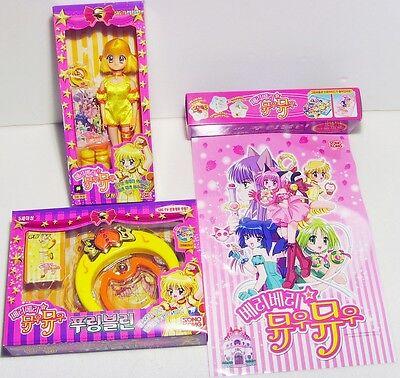 Tokyo Mew Mew Pudding 3item gift SET Doll + Pudding Ring + Bromide  manga item