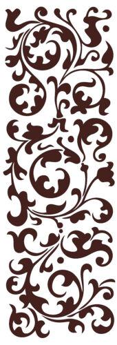 Highest Quality US Made Ornamental Floral Border Vinyl Art Wall Decal Sticker