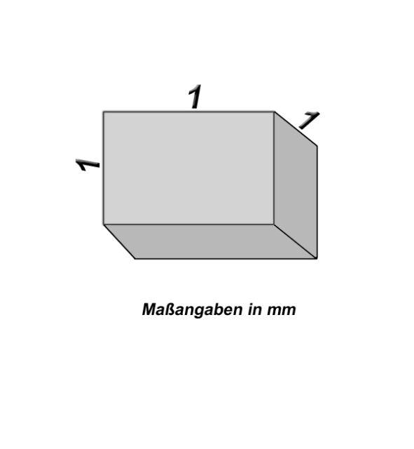 10 Neodym Magnete - 1 x 1 x 1 mm - Neu