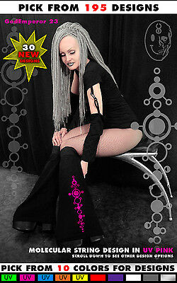 GodEmperor Cyber Goth Rave EBM Coseplay Fluffies Boot Cover Leg Warmer