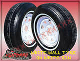 14-WHITE-STEEL-CARAVAN-TRAILER-SUNRAYSIA-WHEEL-WITH-WHITE-WALL-TYRES-195-75-14