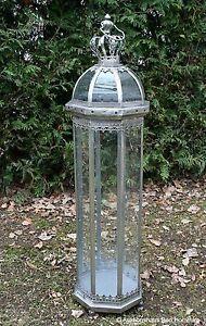 Riesen 110cm Nostalgie Windlicht Lampe Laterne Leuchter