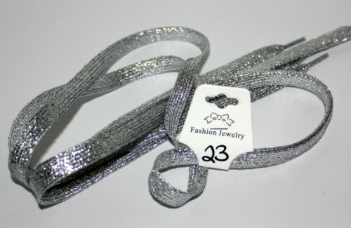 """Shimmer Shoelaces 42/"""" Sparkle Tennis Shoes Colors Run Teams Sports Cheer $1.99"""