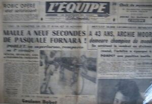 cyclisme giro maule fornara poblet boxe moore pompey journal l 39 equipe 1956 ebay. Black Bedroom Furniture Sets. Home Design Ideas