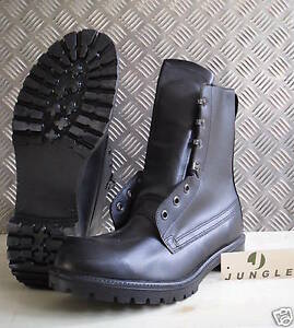 Genuine British Army, Black Leather Combat / Assault Boots - All ...