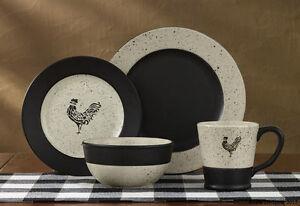 1-Place-Setting-Devon-Rooster-Ceramic-Plates-Bowl-Mug-Country-Dinnerware