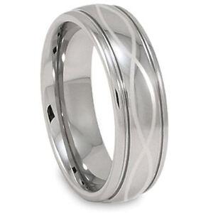 Infinity-Laser-Men-039-s-Tungsten-Wedding-Bands-Ring-Size-4-18