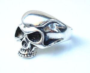 sterling silver 925 skull ring biker jewelry chopper all