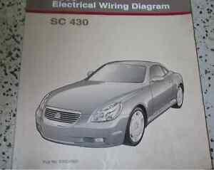 2002 lexus sc430 sc 430 electrical wiring diagram service shop rh ebay ie Used 2002 Lexus SC430 2002 Lexus SC430 Specs