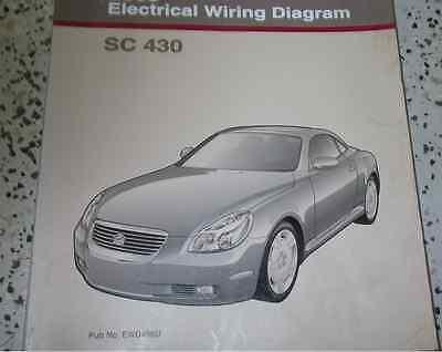 2002 Lexus SC430 SC 430 Electrical Wiring Diagram Service Shop Manual EWD |  eBayeBay