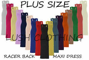 WOMENS-LADIES-PLUS-SIZE-16-26-JERSEY-MUSCLE-RACER-BACK-MAXI-LONG-VEST-DRESS-BNWT