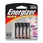 Energizer E92BP4 - MAX Alkaline Batteries, AAA, 4 Batteries/Pack (EVEE92BP4)