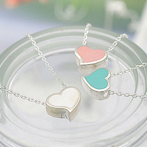 Sweet Candy Love Heart Pendant With Chain Fashion Necklace Hot New