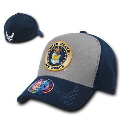 United States Air Force USAF Flex Wings Logo Baseball Ball Cap Caps Hat Hats S/M