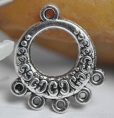 50Pcs Tibetan Silver Earring Connectors Connector Findings A0108