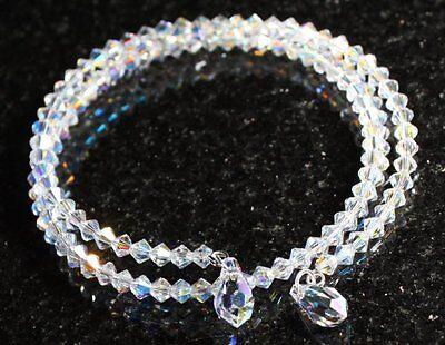 Schmuck Armband mit Swarovski® Kristallen schillernd glitzernd Armreif Etui