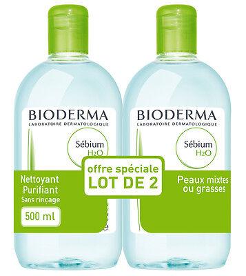 Bioderma Sebium H2O Solution Micellaire - 2 x 500 ml - Worldwide shipping