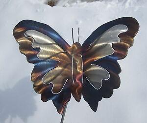 Butterfly-organic-Garden-yard-art-Lawn-metal-Plant-Stake-outdoor-home-decor