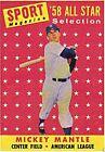 1958 Topps Mickey Mantle New York Yankees #487 Baseball Card