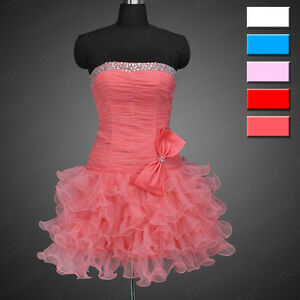 New-Cocktail-Party-Short-Mini-Prom-Ball-Gown-Dress-Bridesmaid-Club-Plus-Size-6
