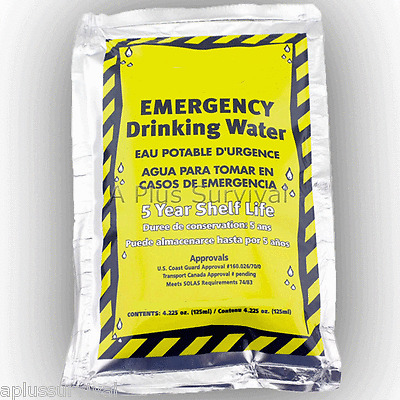 36 Emergency Survival Drinking Water Pouches For Kits