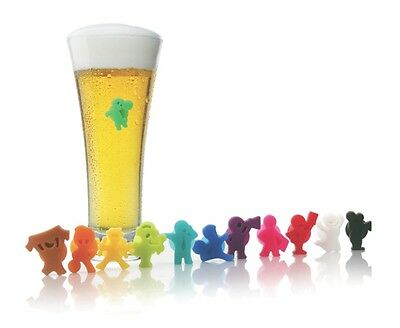 VACU VIN PARTY PEOPLE - FOOTBALL GLASS MARKERS